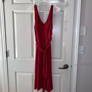 BCBGMaxAzria red midi dress